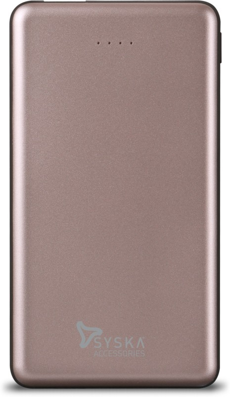Syska 10000 mAh Power Bank (Fast Charging, 12 W)(RoseGold, Lithium Polymer)
