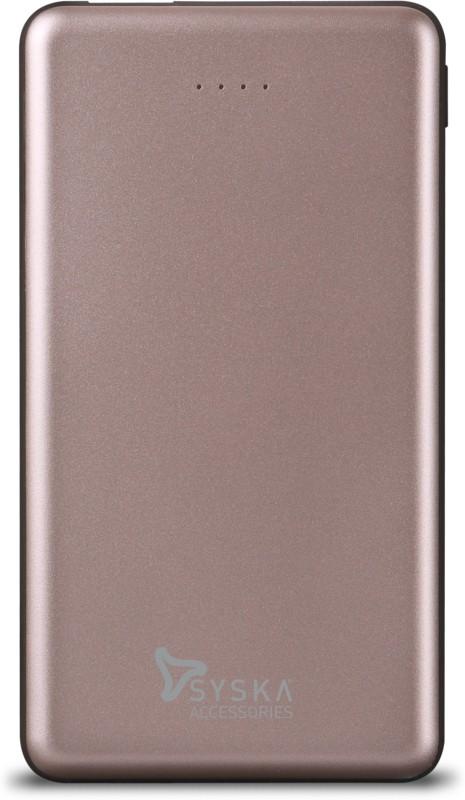 Syska 10000 mAh Power Bank (12 W, Fast Charging)(RoseGold, Lithium Polymer)
