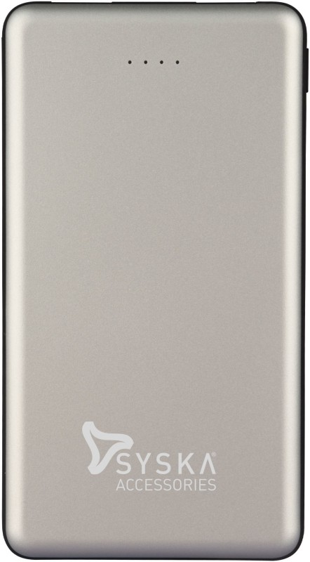 Syska 10000 mAh Power Bank (Fast Charging, 12 W)(Silver, Lithium Polymer)