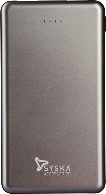 Syska 10000 mAh Power Bank (Fast Charging, 12 W)(Grey, Lithium Polymer)