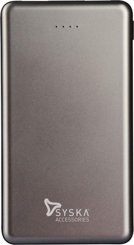 Syska 10000 mAh Power Bank (12 W, Fast Charging)(Grey, Lithium Polymer)