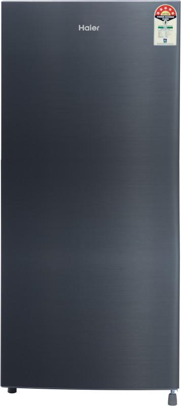 Haier 195 L Direct Cool Single Door 5 Star (2019) Refrigerator(Shiny Steel, HRD-1955CSS-E)