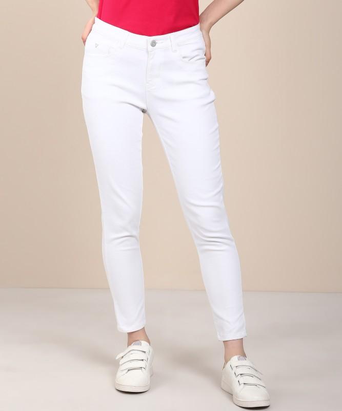 Flying Machine Skinny Women White Jeans