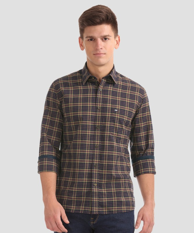 Arrow Sport Men Checkered Casual Multicolor Shirt