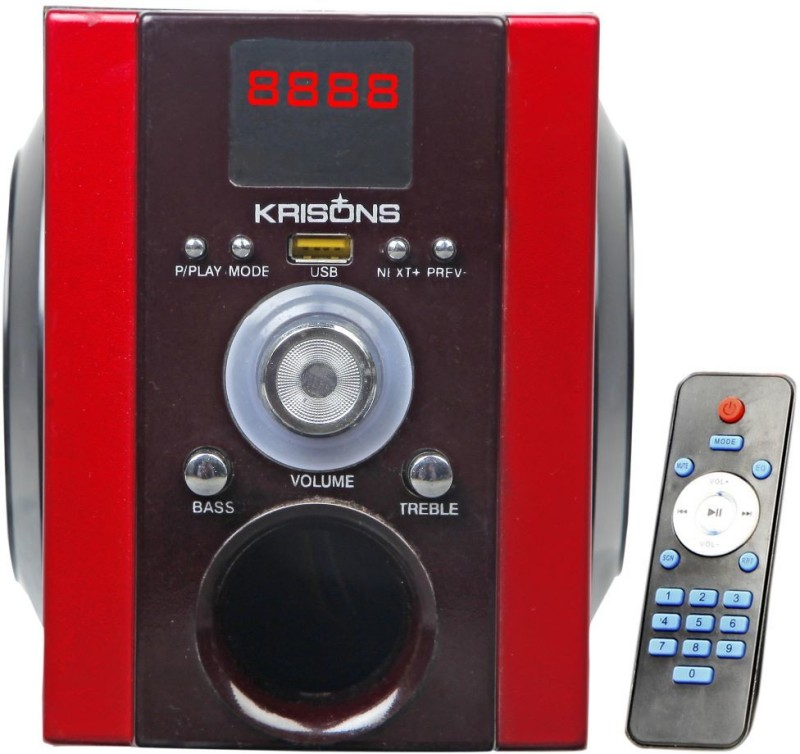 KRISONS Buddy 4 W Bluetooth Home Audio Speaker(Black and Red, 2.0 Channel)