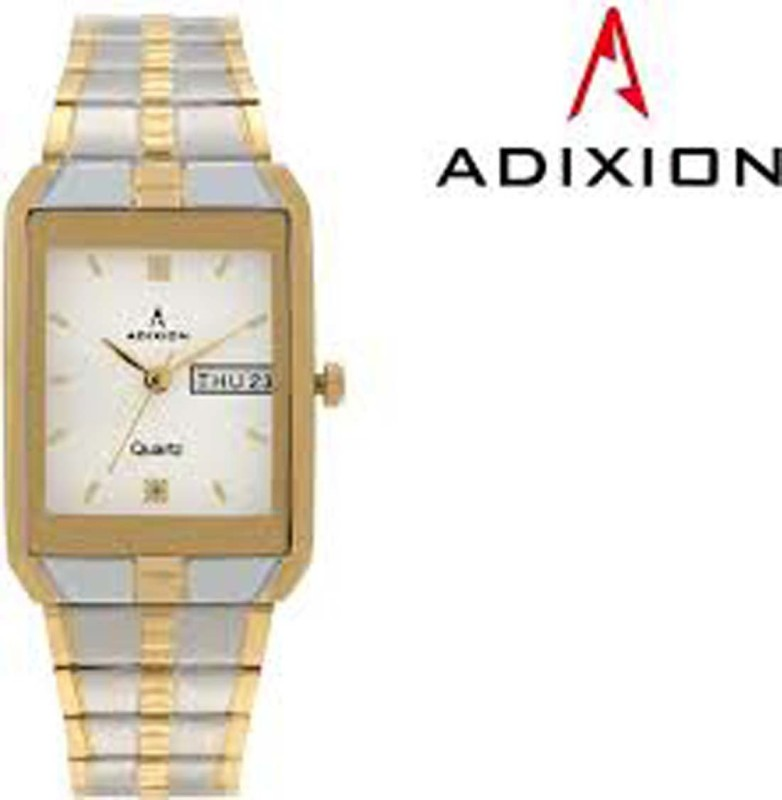 ADIXION 9151BM02 Day And Date 18 K Steel Gold Pleating Igp Analog Watch - For Men