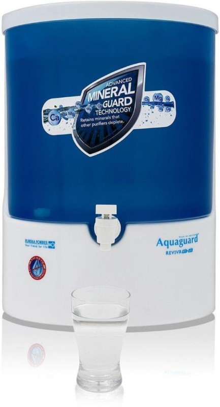 Eureka Forbes Aquaguard Reviva 8 L RO + UV Water Purifier(White, Blue)