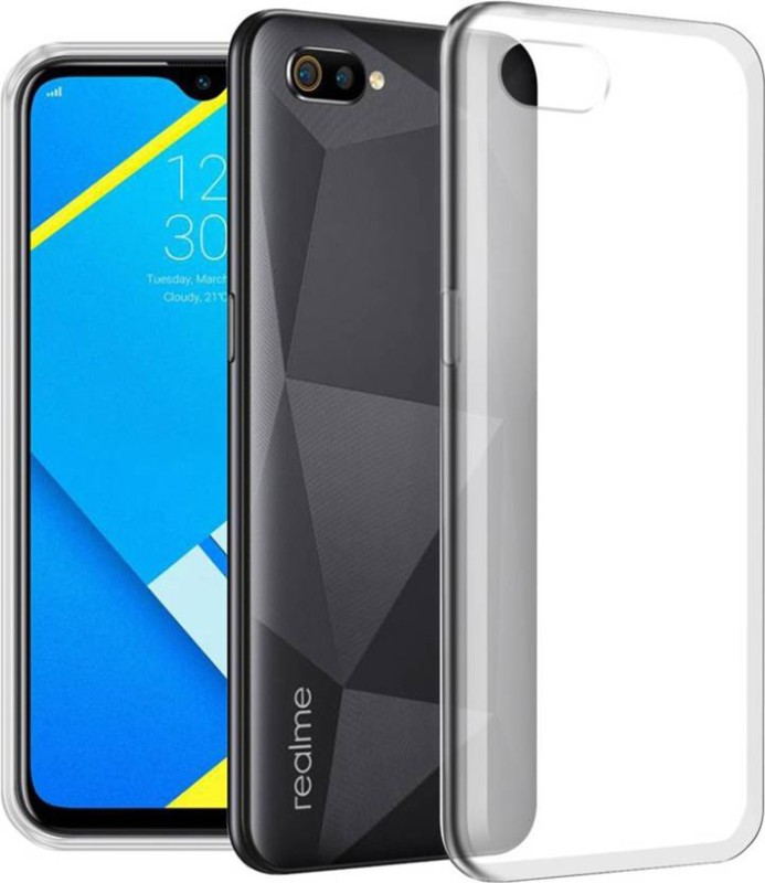 "Cooldone Back Cover for Realme C2(High Quality ""Transparent"" Full Protection, Grip Case, Silicon)"