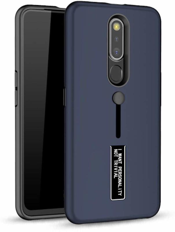 KWINE CASE Back Cover for Oppo F11 Pro(Blue,black, Shock Proof)