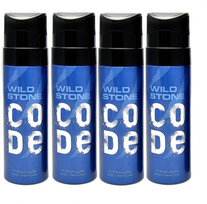 Wild Stone Code Titanium Pack of 4 Deodorant Spray - For Men(480 ml, Pack of 4)