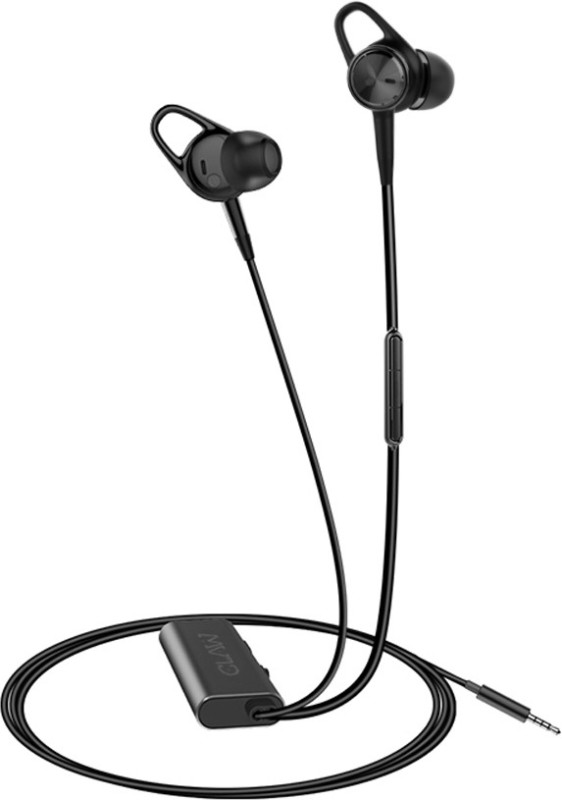 CLAW ANC7 Active Noise Cancelling Wired Headset with Mic(Black, In the Ear)