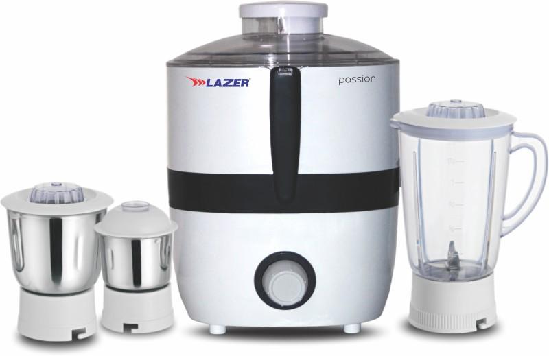 Lazer Passion White Color JMG 550 Juicer Mixer Grinder(White, 3 Jars)