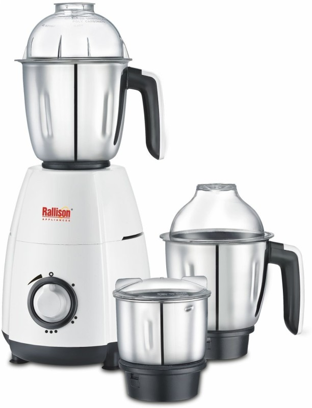 Rallison Appliances Desire RS_24 745 Mixer Grinder(White, 3 Jars)