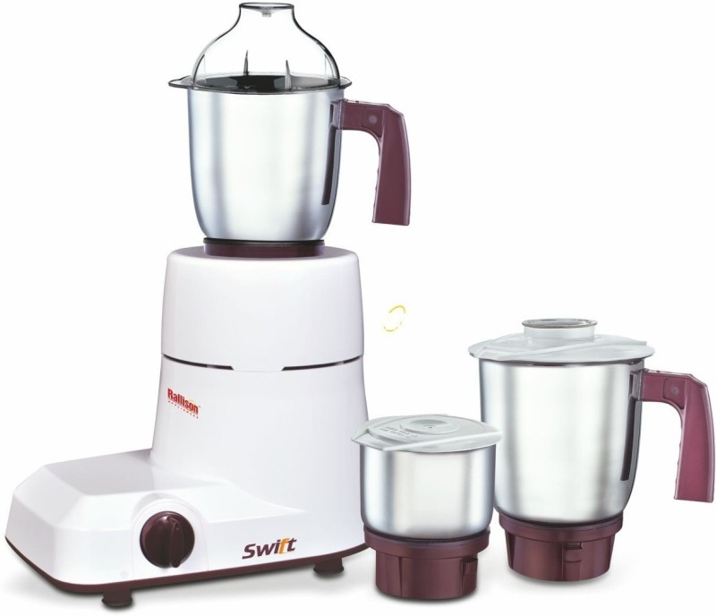 Rallison Appliances Swift RS_19 750 Mixer Grinder(White, 3 Jars)