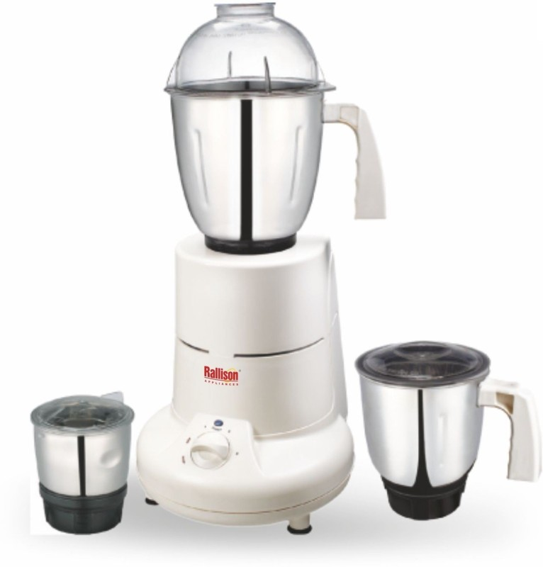 Rallison Appliances Super RS_23 745 Mixer Grinder(White, 3 Jars)