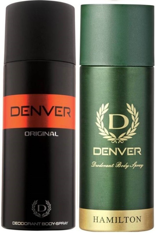 Denver Original, Green Hamilton Deodorant Spray - For Men(150 ml, Pack of 2)
