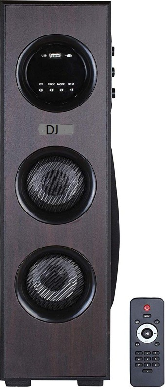 DJ Dynamc multimedia floor standing tower 4.1 Home Cinema, Tower Speaker, Soundbar Multimedia, Bluetooth, USB, DVD, AUX, 4.1 Home Cinema, Tower Speaker, Soundbar(MULTIMEDIA, BLUETOOTH, USB, DVD, AUX)