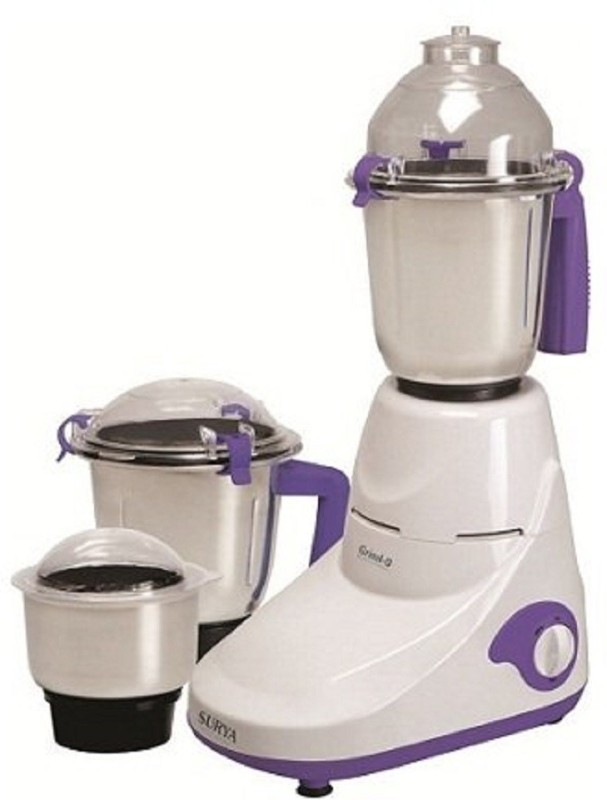 Surya Roshni Limited 1 CVDGVHB 450 Juicer Mixer Grinder(White, 4 Jars)