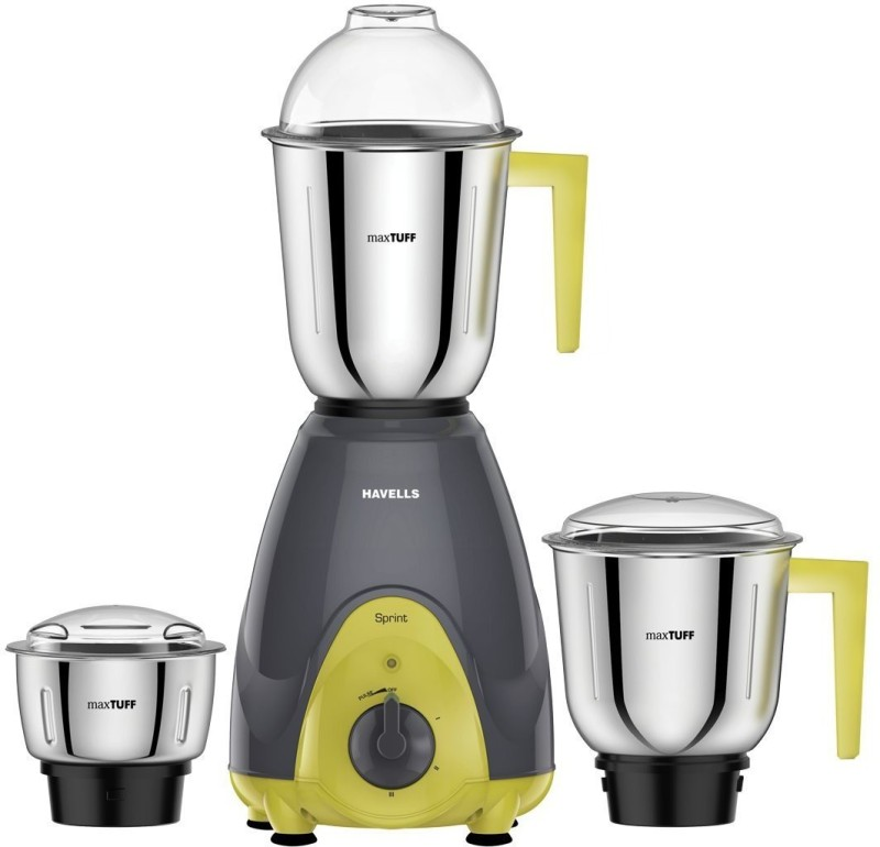 Havells GTFHYUU 420 Mixer Grinder(Yellow, 3 Jars)