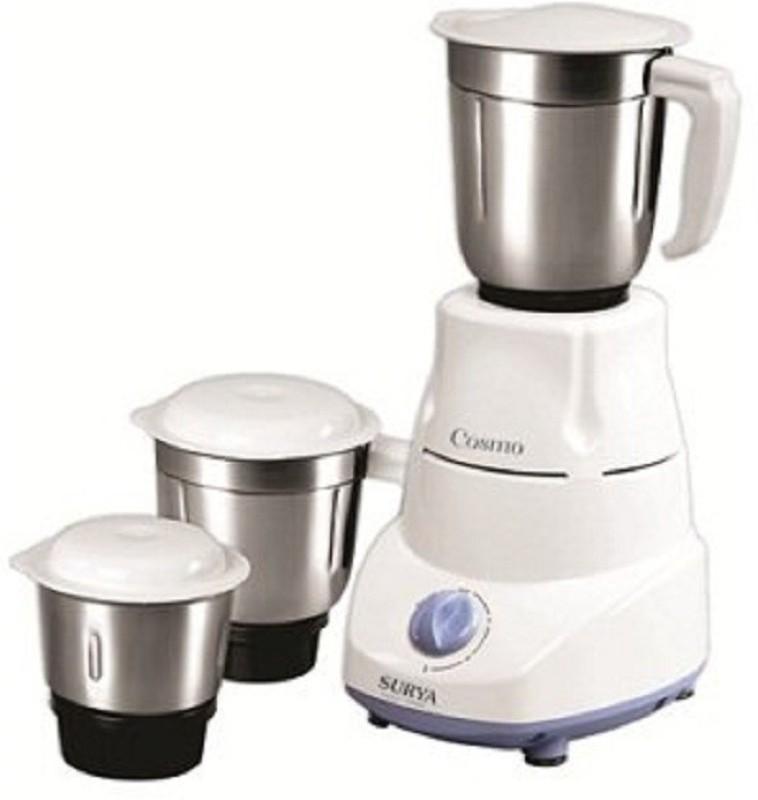 Surya Roshni Limited 1 FGHHJM 520 Juicer Mixer Grinder(White, 3 Jars)