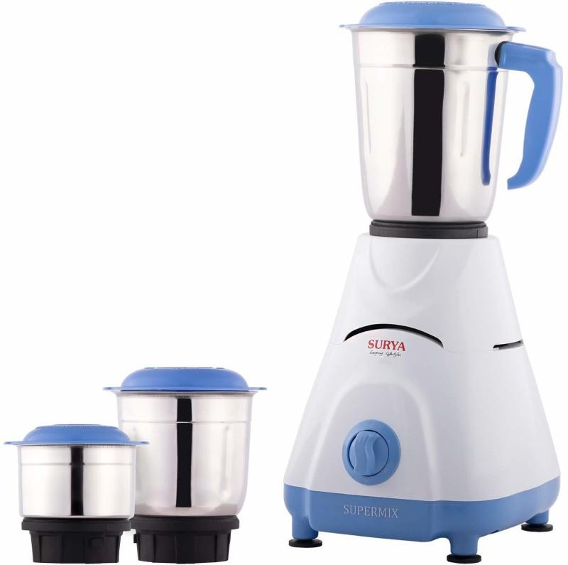 SURYA ROSHNI LIMITED 1 HFHFH 500 Mixer Grinder(White, Blue, 3 Jars)