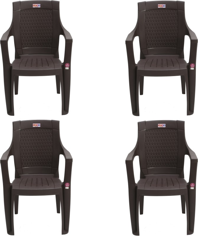 AVRO furniture 7756 Matt and Gloss Chair Plastic Outdoor Chair(Finish Color - BROWN)