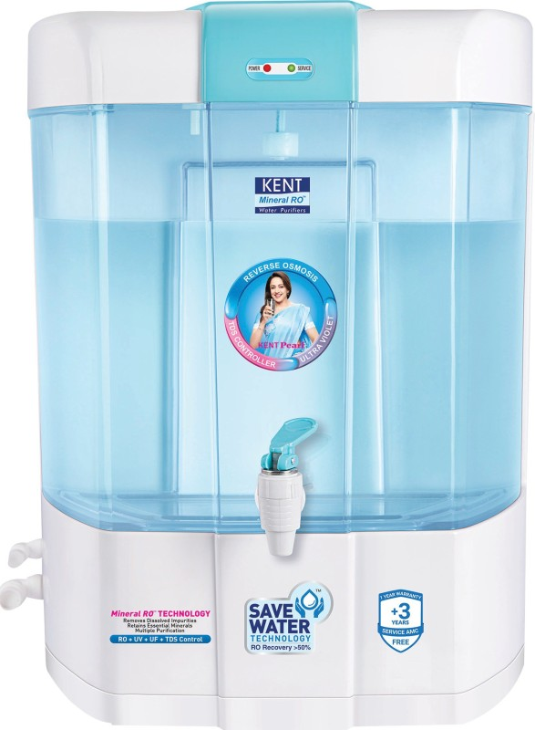 Kent PEARL(11002) 8 L RO + UV + UF Water Purifier(blue and white)