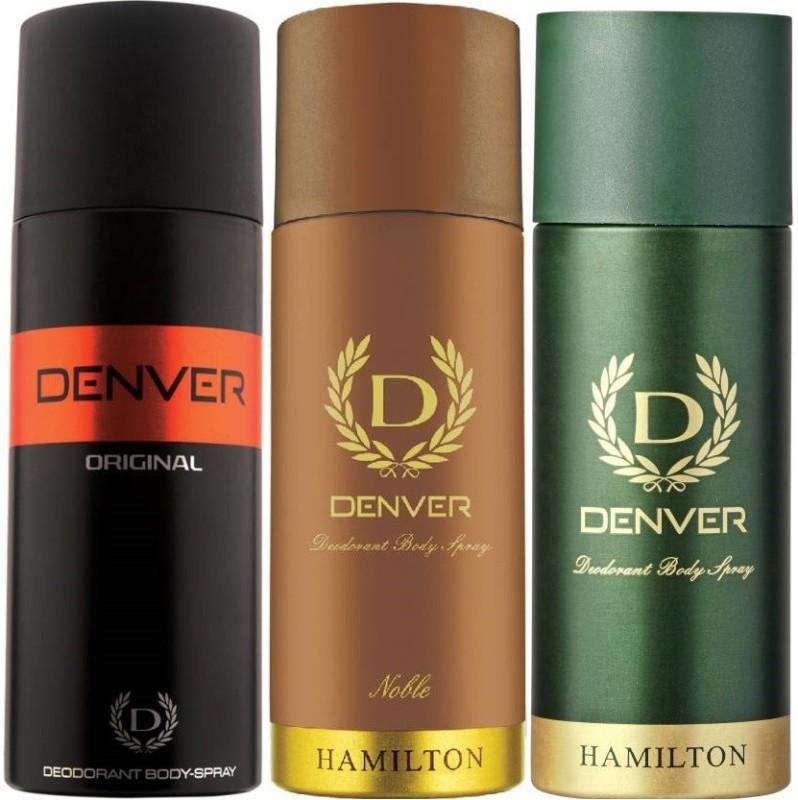 Denver Original, Green Hamilton, Noble Deodorant Spray - For Men(150 ml, Pack of 3)