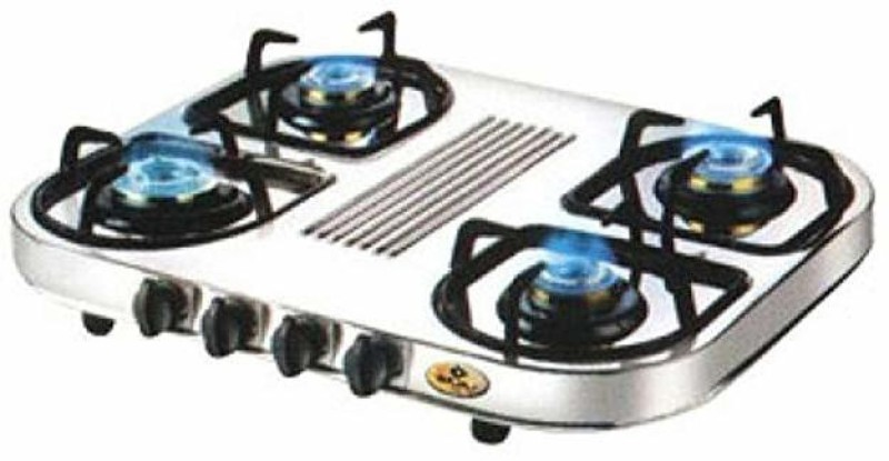 Bajaj Stainless Steel Manual Gas Stove(4 Burners)