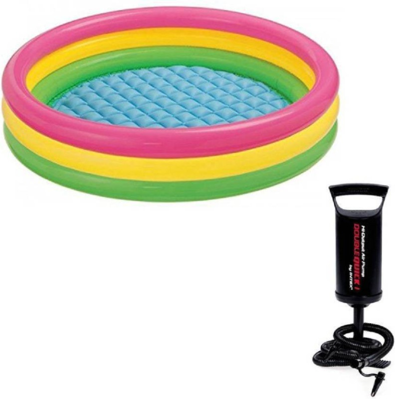 P17 collection 3Ft Inflatable Bath Tub & Baby Swimming Pool with Air Pump (combo)(Multicolor)