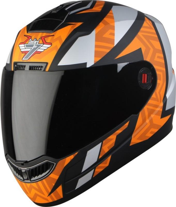 Steelbird SBA-1 CESAR Motorbike Helmet(Orange)