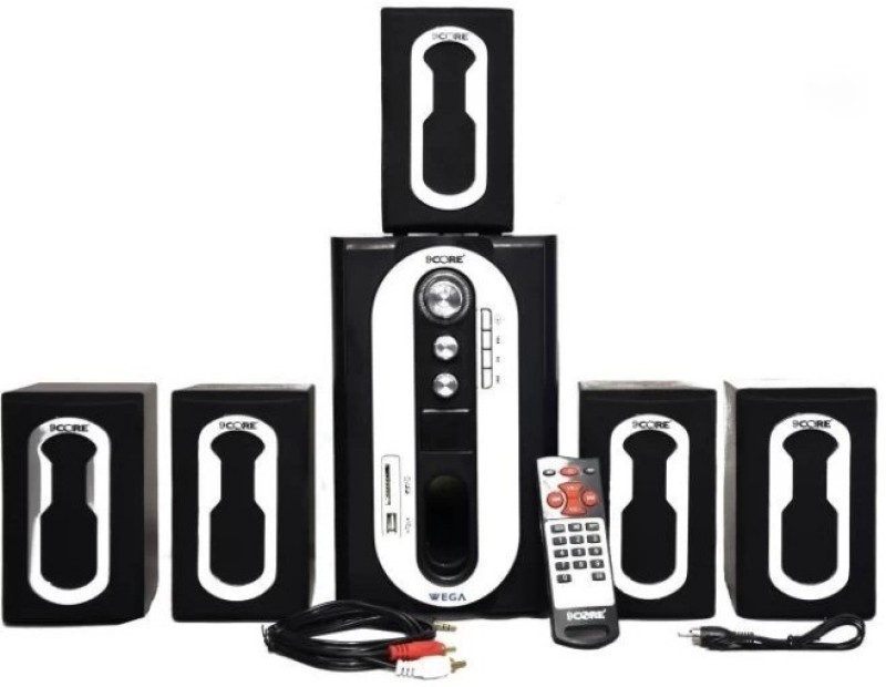 9 core Home Theater System WEGA Series 60 W Bluetooth Home Theatre(Black, 5.1 Channel)