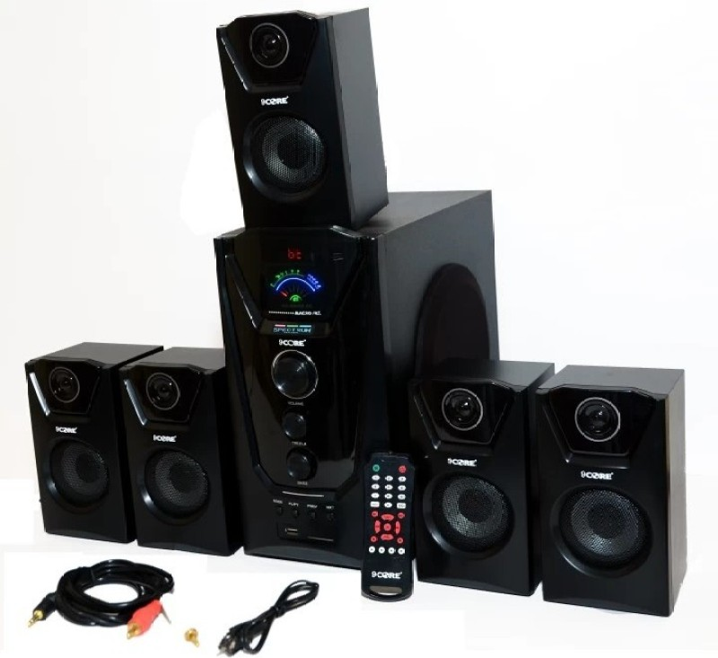 9 core Home Theater System MACRO 60 W Bluetooth Home Theatre(Black, 5.1 Channel)