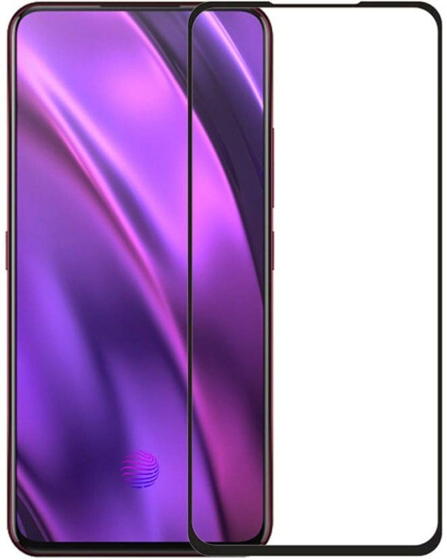 GeekMart Edge To Edge Tempered Glass for OPPO Reno 10x Zoom(Pack of 1)