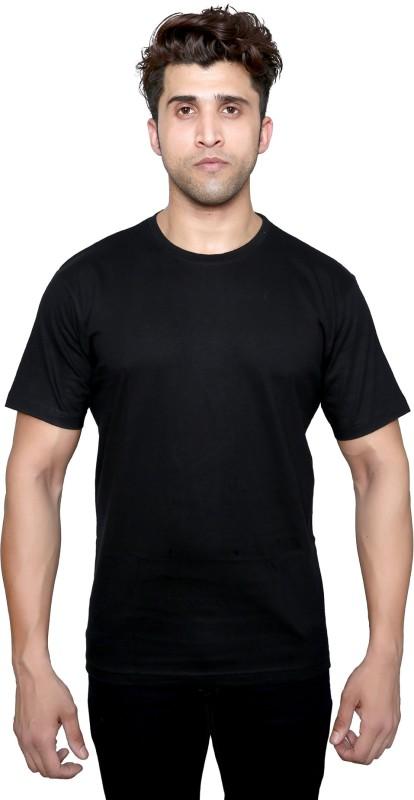 BRAGITOFF Solid Men Round Neck Black T-Shirt