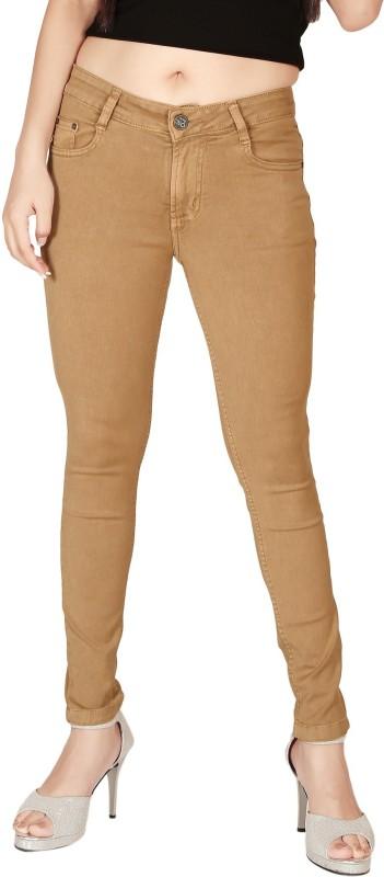 Focus Slim Women Beige Jeans