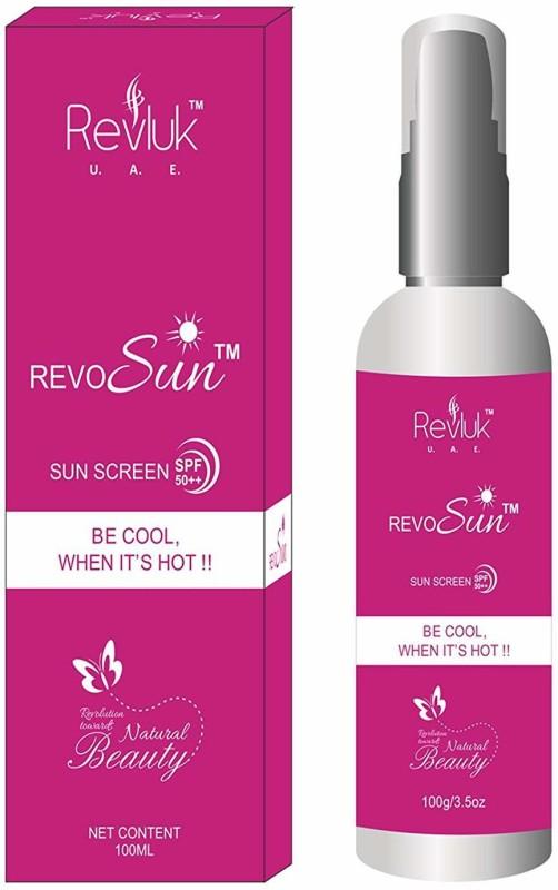REVLUK U.A.E. Revosun Sun Screen SPF 50++ Lotion, White, 100 g(100 ml)