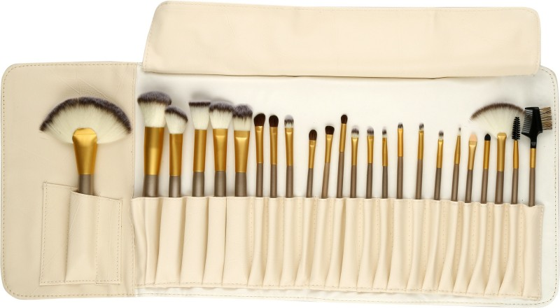 Foolzy Makeup Brush Collection (24 Pcs Premium Off White)(Pack of 24)