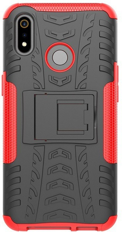 BESTTALK Back Cover for Realme 3, Realme 3i(Red, Shock Proof)