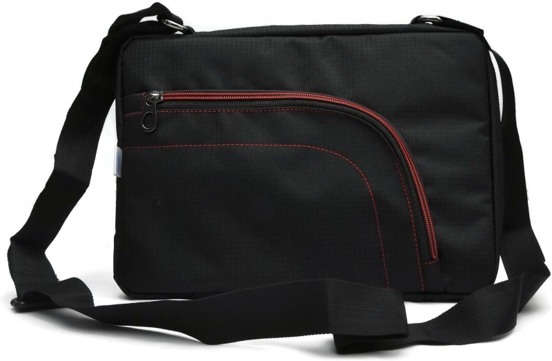 Saco 15 inch Laptop Messenger Bag(Black, Pink)