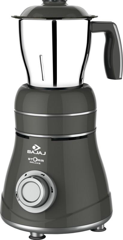 Bajaj Stormix 750 W Mixer Grinder(Silver, Black, 3 Jars)