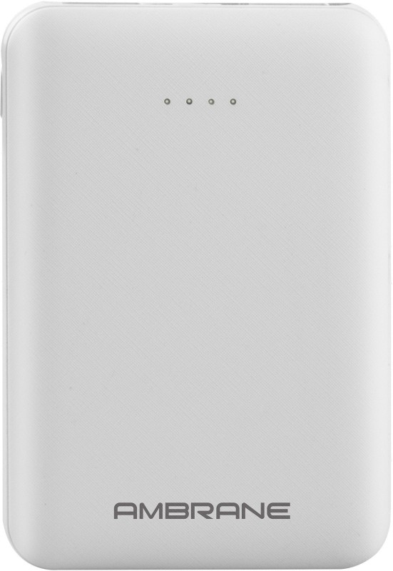 Ambrane 5000 mAh Power Bank (PP-501)(White, Lithium Polymer)