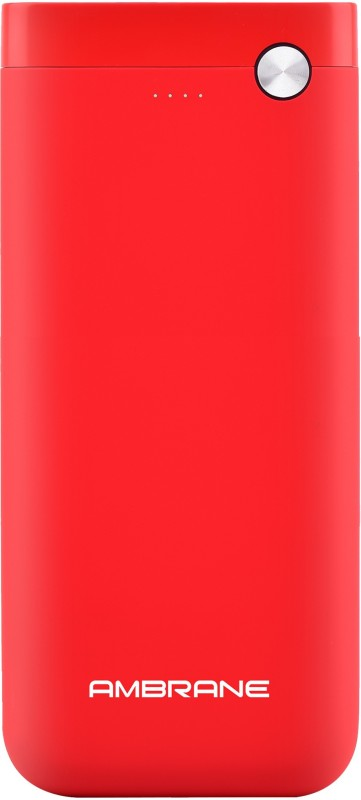 Ambrane 20000 mAh Power Bank (PP-20)(Red, Lithium Polymer)