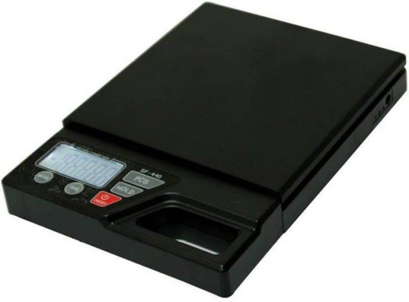 NIBBIN Sf-440 10kg x 1g Digital ,kitchen Weighing Scale, Gold & Silver Weighing Scale(black,WHITE)