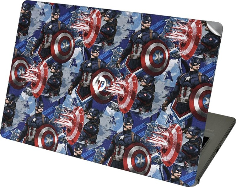 GADGETS WRAP GWSI-41890 Printed Captain America Fab Vinyl Laptop Decal 14