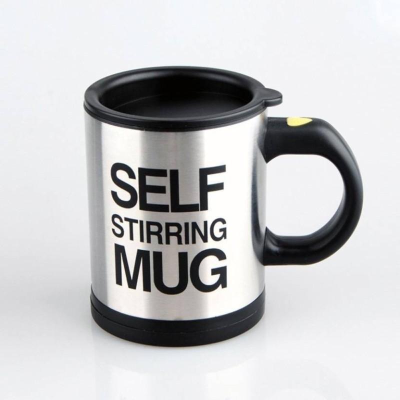 Zakheza Automatic stirring self mug Stainless Steel Mug (380 ml) Self Heating Mug