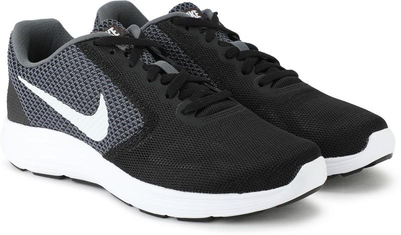 Nike Wmns Revolution 3 Running Shoes For Women(Black, Grey)