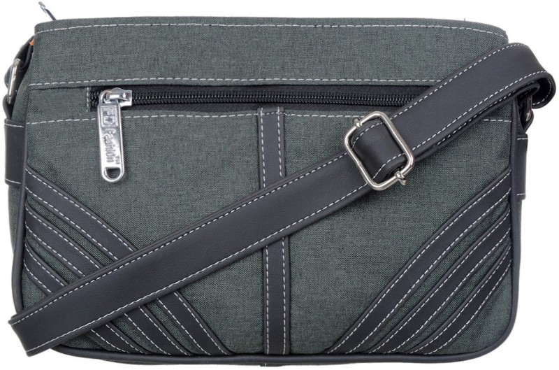 FD Fashion Women Grey, Black Sling Bag