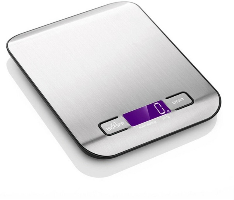 Weightrolux Digital steel kitchen scale Weighing Scale(Silver)