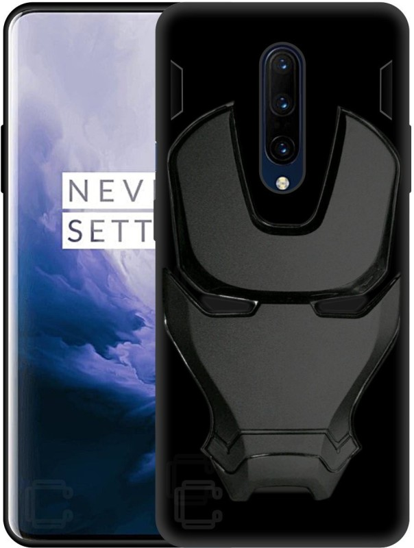 Case Creation Back Cover for Oneplus 7 Pro(3D Avenger Official Real Black, 3D Case, Silicon)